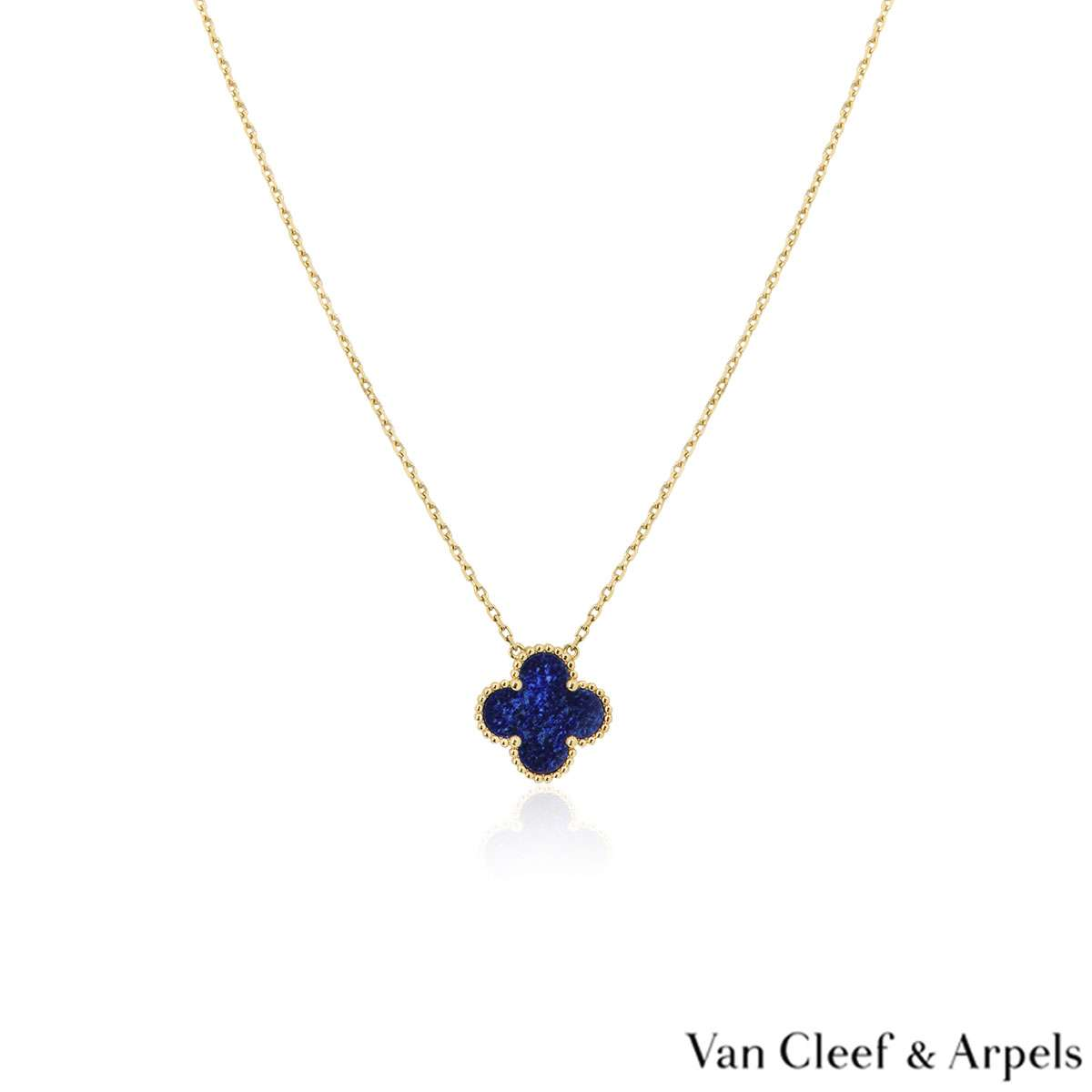 Van Cleef & Arpels Lapis Sweet Alhambra Pendant